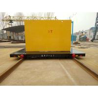 Quality 300T Capacity Four Caste Steel Wheels Cable Power Railroad Cart for sale