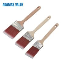 Quality Tapered brush,wooden brush handle,synthetic paint brush with long wooden handle for sale