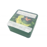 Quality 105X105X35mm Square PMS CMYK Food Tin Box With Lid for sale