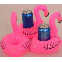 China Mini Flamingo Floating Inflatable Coasters Drink Cell Phone Holder Stand Pool Event & Party Decoration Toy For Kids on sale