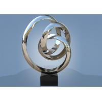 Buy Large Size Stainless Steel Sculpture Circle Around For Hotel / Public Decoration at wholesale prices