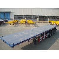 Quality Carbon Steel Flatbed Semi Trailer 40000kg With Dual Line Braking System for sale