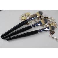 Wood Handle Professional Foundation Brush Black Handle Color Oval Shape