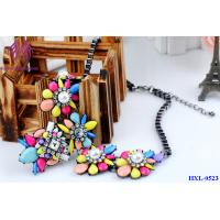 Quality Colorful Candy Color Bead Flower pearl Necklace lady party Jewelry for sale