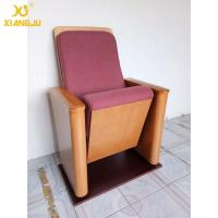 China Customized Molded Foam Plywood Auditorium Chairs Powder Coating Flame Retardant on sale