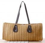 Quality 27302 paper string straw bag, straw handbag, straw tote bag, pillow shape bag, beach bag for sale