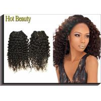 Quality Tangle Free Human Hair Indian Remi Kinky Curly Hair Extensions Double Weft for sale
