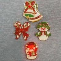 Quality Flashing Pins in Christmas Designs for sale