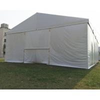 Quality Clear Span Fabric Structures Outside Canopy Tent , Temporary Warehouse Tent White for sale