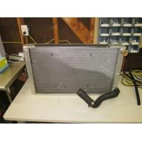 Quality aluminum radiator 3 row inlet and outlet on drivers side no fill neck,customrace for sale