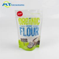 Quality Coconut Flour Stand Up Gusseted Pouch SGS Certification Easy To Display for sale