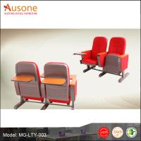 China High Back Auditorium Chair and Desks With Writting Tablet For School Lecture on sale