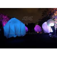 2m 190T Inflatable Lighting Balloon , Ghost Hanging Air Light Balloon Halloween Decorations