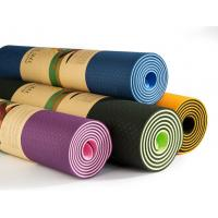 Quality Double layer eco friendly fitness TPE yoga mat wholesale logo custom print yoga mat for sale