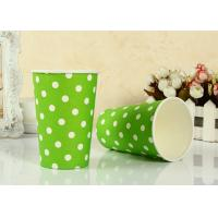 Quality Customized Disposable Paper Drinking Cup For Party , Heat Insulation for sale