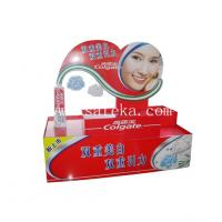 Quality Supermarket Custom Retail Corrugated Cardboard Counter Display for Colgate Tooth Paste for sale