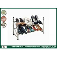Quality Customized metal shoe display racks shelf storage unit two layer , Power coated for sale