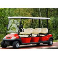 Quality Popular Outdoor 6 Seater Golf Cart With Aluminum Rim , 48V Battery Voltage for sale