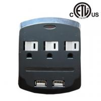 Quality US 3 outlet wall-mounted usb charging surge protector, ETL approved for sale