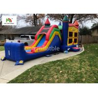 Quality Colorful Single Lane Inflatable Bounce House With Slide Logo Printed for sale