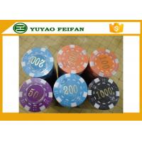 Quality ABS High Quality Poker Chips Dice Striped Plastic Poker Chip With Numbers for sale