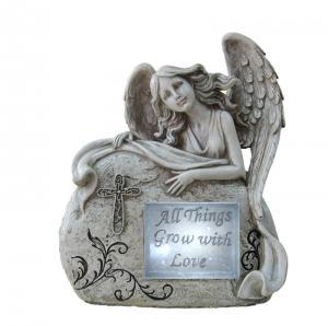 Quality Customized Classical Angel Love Garden Solar Light Ball For Garden Ornaments for sale