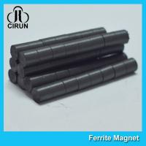 Hard Cylinder Ferrite Magnet For Rotors / Fridge SGS RoHS Certification