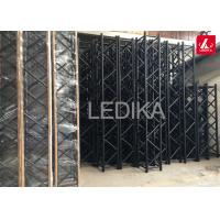 China Black Frame Aluminum Square Truss / Trade Show Or Event Truss Light Stand on sale