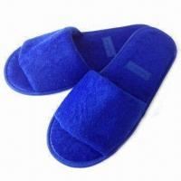 Quality Anti-slip Disposable Hotel Slippers, Made of Terry Towel Cotton for sale