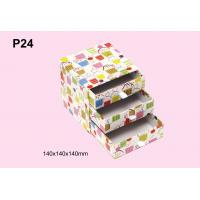 Quality Personalized Colorful Offset Printing Paper Gift Storage Box With Three Drawer for sale