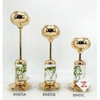 China Europe Classical gold crystal candle holder for wedding decoration on sale