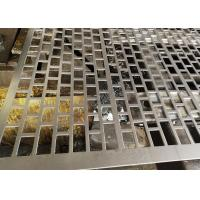 China 1 mm Rectangle Perforated Metal Mesh Screen For Filtering / Breeding 0.3-10mm Thickness on sale