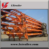 China Hot sale 3 axle 40 ft skeleton used container trailer for sale on sale