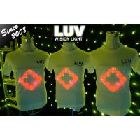 China led t shirt be different!!! EL t shirt Flashing / Sound Activated/Light Up Down /Music Party LED on sale