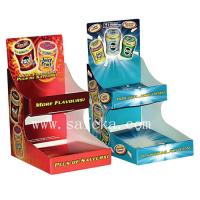 Quality Two shelf Cardboard counter display for chewing gums & Fresher for sale