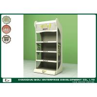 Quality Power Coated Metal Display Floor racks for petfood and bottles for sale