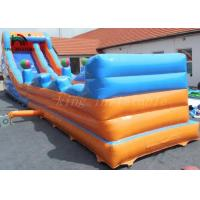 Quality Blue / Orange PVC Tarpaulin Inflatable Dry Slide Eco - Friendly For Outdoor for sale