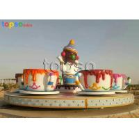 Quality 24 Seat Family Amusement Rides Cup And Saucer Ride  Non - Fading  Durable Painting for sale