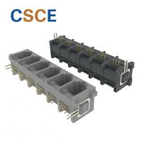 China Tab Up RJ11 6 Pin Connector , Telephone Modular Jack 1 * 6 Port With Hook on sale