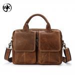 Quality top quality mens leather briefcase laptop bag online shopping custom shoulder bag men's bag genuine leather for sale