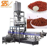Quality Aquatic Floating Fish Feed Pellet Machine Double Screw Extruder Craft for sale