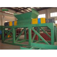 Quality Two Rotors Plastic Shredder Machine 220V / 380V High Efficiency Rubber Recycling for sale