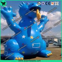 Quality 3m High Cute Blue Inflatable Dragon Cartoon For Giant Event , Event Inflatable Model for sale