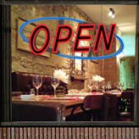 Quality Small Horizontal LED Open Sign One Sided With Neon Light For Bar/Restaurant for sale