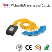 Quality 1260nm 1x32 Bare Fiber PLC Splitter With APC Connector for sale