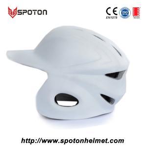 Quality Adult Baseball Pitchers Helmet , White Pitching Helmet Baseball for sale