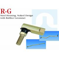 R - G Series Stainless Steel Ball Joint Steel Housing Staked Design With Rubber Grommet