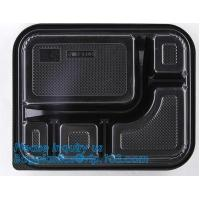 China clear blister clamshell plastic raspberry containers,lunch box 4 compartment PP Blister pack Food Containers Disposable on sale