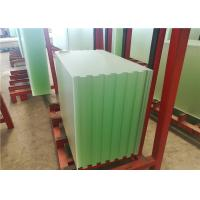 Quality Patterned Solar PV Glass , Ultra White Low Iron Toughened Glass 91.7% Transmittance for sale