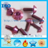 Quality Supply/Customize Hexagon socket head cap screws,Allen bolt,Colorful zinc galvanized hex socket bolt,Colorful zinc plated for sale